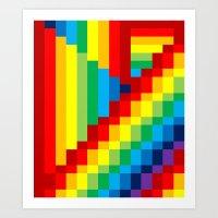 Fuzz Line #3 Art Print