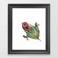 Rising Of The Birdy Gods Framed Art Print