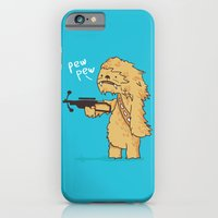 iPhone Cases featuring Chewy - pew pew you're dead by Budi Kwan