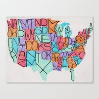 USA in color Canvas Print