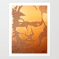 Man Recycled  Art Print