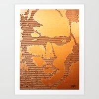 Man Recycled  Art Print