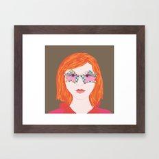 Firehead Framed Art Print