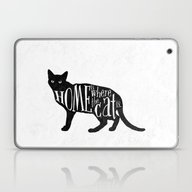 Home Is Where The Cat Is… Laptop & iPad Skin