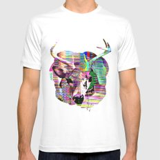 Half n Half Mens Fitted Tee SMALL White