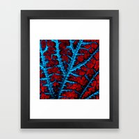 Leaf Structure Abstract … Framed Art Print