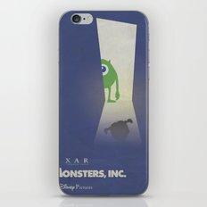 Monsters Inc. Walt Disney Alternative Movie Poster iPhone & iPod Skin