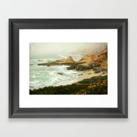 fog rolling in Framed Art Print