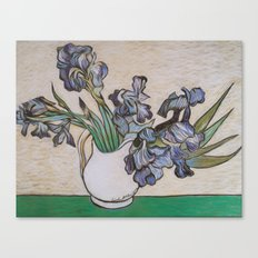 Irises, After Van Gogh Canvas Print