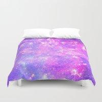 Pink Galaxy Duvet Cover