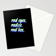 REAL EYES. REALIZE. REAL LIES. Stationery Cards