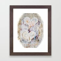Winter Hearts Framed Art Print