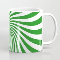 Swirl (Forest Green/White) Mug