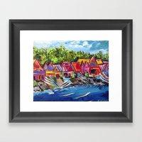 Philadelphia's Boathouse… Framed Art Print