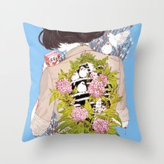 Strawberry Milk Throw Pillow