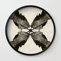 Fish And Mirrors Wall Clock