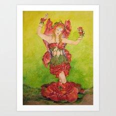 Fairy of The Roses Art Print