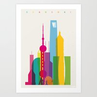 Shapes Of Shanghai. Accu… Art Print