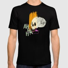 AHHHHHHR IT'S A SKULL (ACTUALLY IT'S JUST THE CRANIUM) SMALL Black Mens Fitted Tee