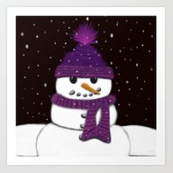 The Armless Snowman Art Print