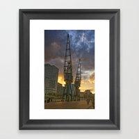 Docklands London Dusk Framed Art Print