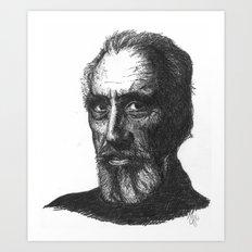 Christopher Lee Art Print