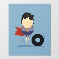 My Super hero! Canvas Print