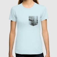 Bicycle Womens Fitted Tee Light Blue SMALL