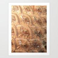 Pine cone pattern Art Print