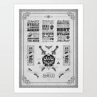 Legend Of Zelda - The Hy… Art Print