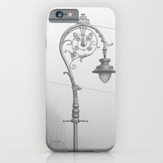 Dublin street lamp in the fog iPhone & iPod Case