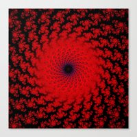 Red Space Spiral Fractal… Canvas Print