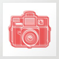 I Still Shoot Film Holga Logo - Red Art Print