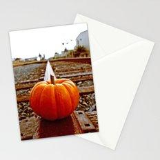Railroad pumpkin Stationery Cards