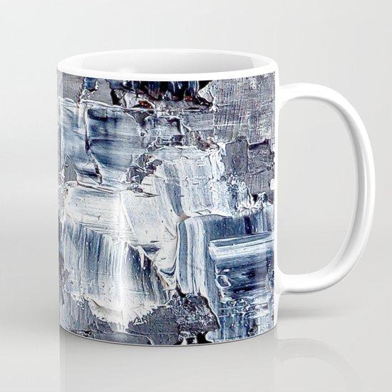 50 Shades... - black & white abstract painting Mug