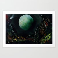The Lunar Garden Art Print
