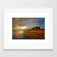 Bamburgh Castle Northumberland Framed Art Print