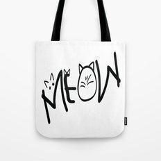 MEOW  typography Tote Bag