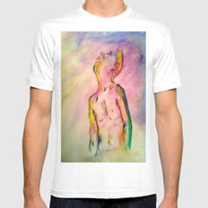 transient constance  Mens Fitted Tee White SMALL