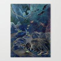 Kiwi, Bats, Morepork And… Canvas Print