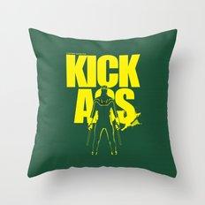 KICK ASS Throw Pillow