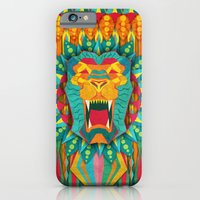 iPhone & iPod Case featuring Lion by UvinArt