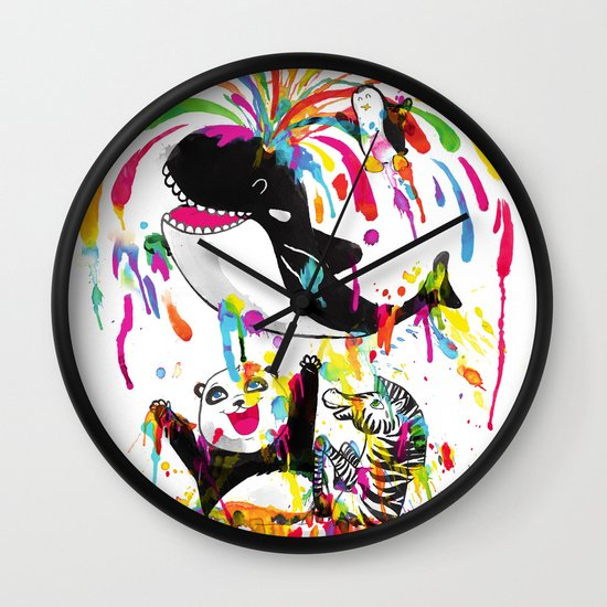 Yay! Bath Time! Wall Clock