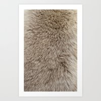 Ferret Texture Art Print