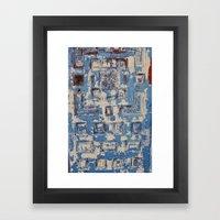 Blue Patterned Door Framed Art Print