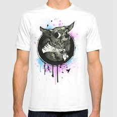 Ickle Dog White Mens Fitted Tee SMALL