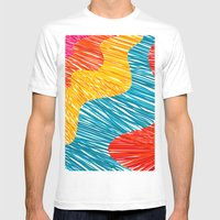 Color waves Mens Fitted Tee White SMALL