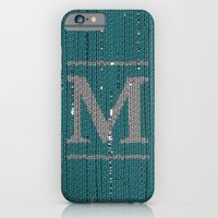 iPhone & iPod Case featuring Winter clothes. Letter M. by Studio Caravan
