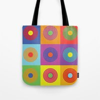 Vinyl Pop Art Tote Bag