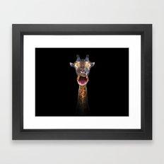 Animal Portraits - Giraffe Framed Art Print